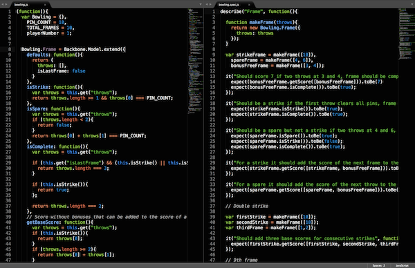 Side-by-side editing in Sublime