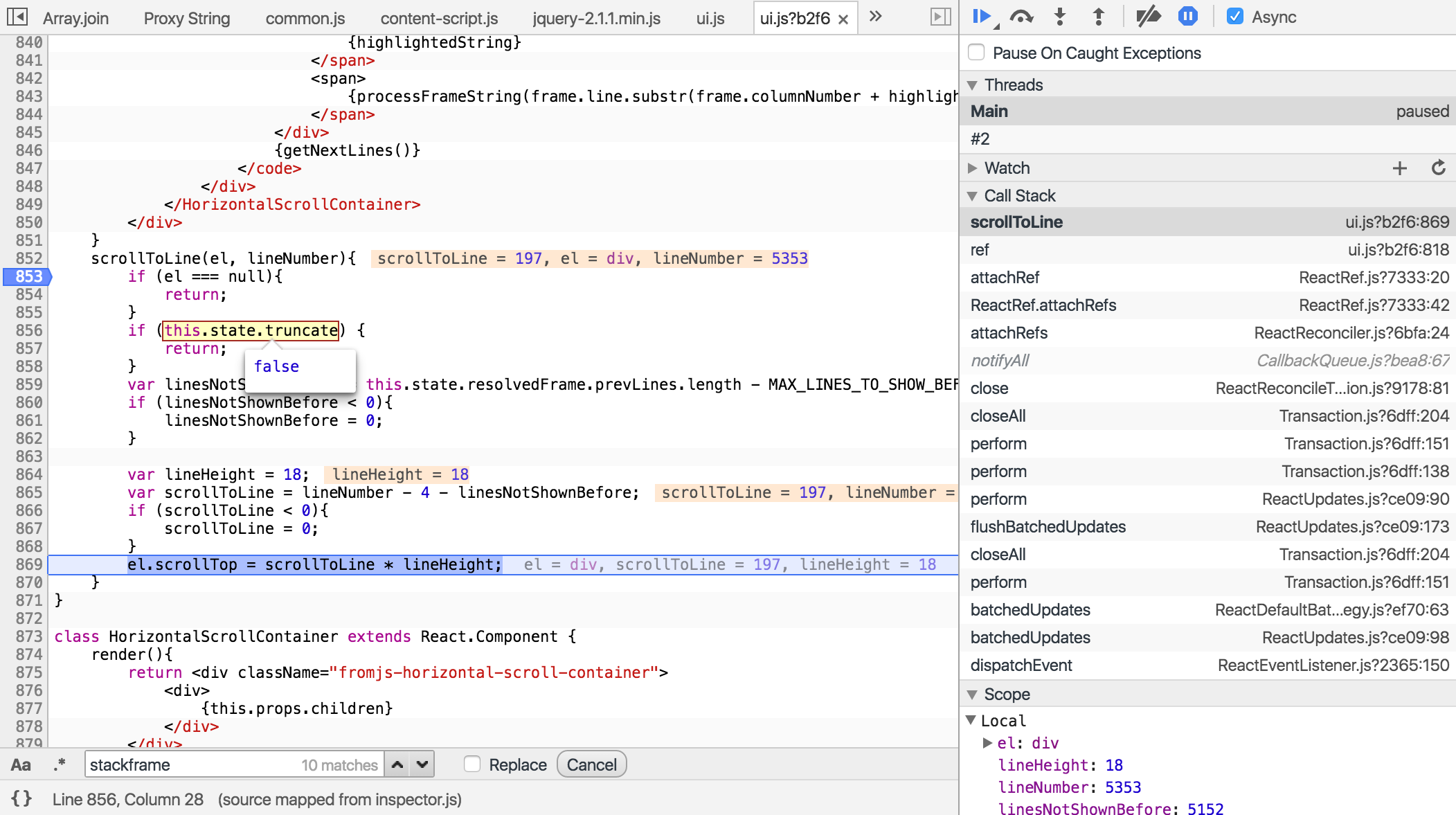 Chrome DevTools Debugger